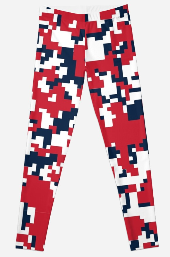 Red, White & Blue Camo Design