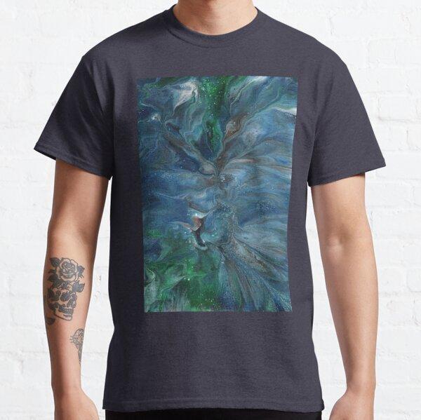 Crosscurrent: ocean river fluid art Classic T-Shirt