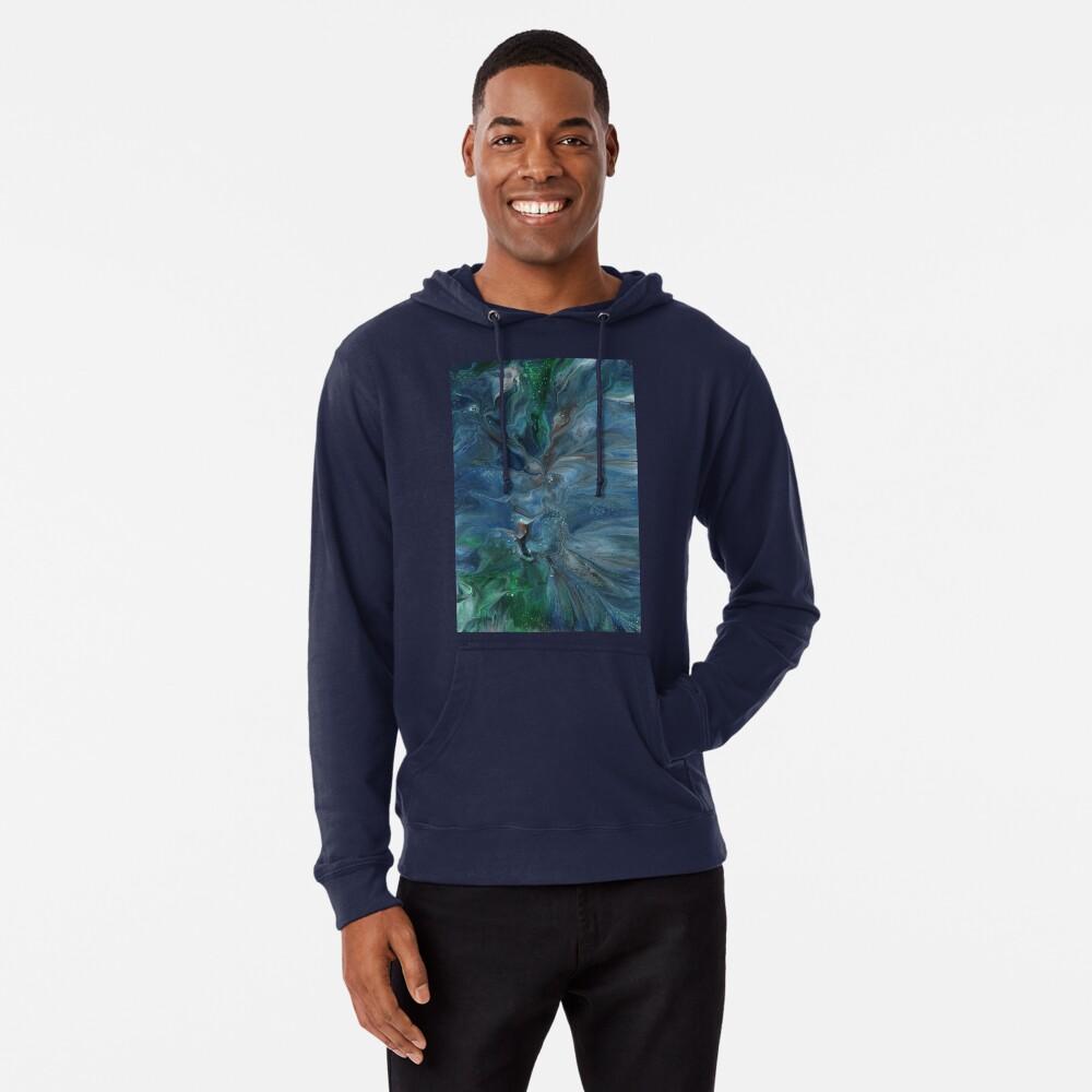 Crosscurrent: ocean river fluid art Lightweight Hoodie