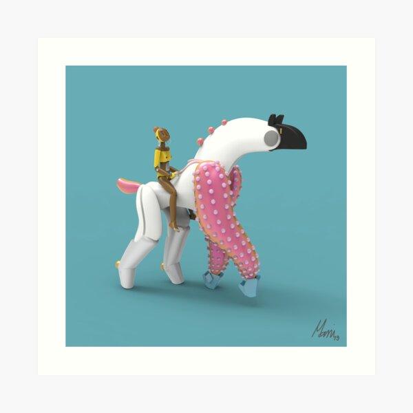 Hana and Piñata Art Print