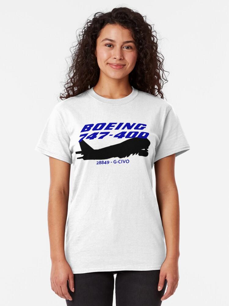 Alternate view of Boeing 747-400 28849 G-CIVO (Black)  Classic T-Shirt
