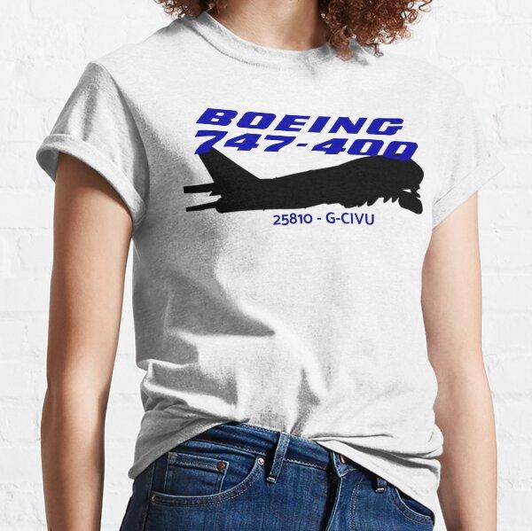 Boeing 747-400 25810 G-CIVU (Black)  Classic T-Shirt