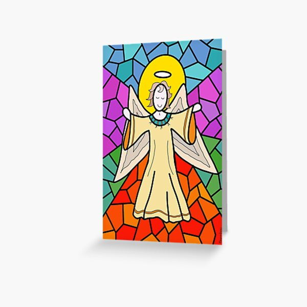 Rejoicing Angel Greeting Card