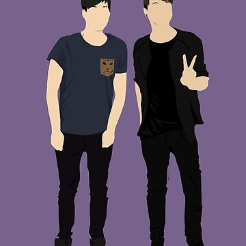 Dan and Phil Silhouettes by lindsaygreth