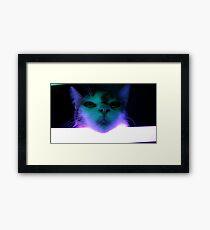 Tigger and Her Lightsaber Framed Print