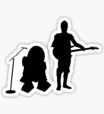 R2D2 C3PO Rock Band Sticker