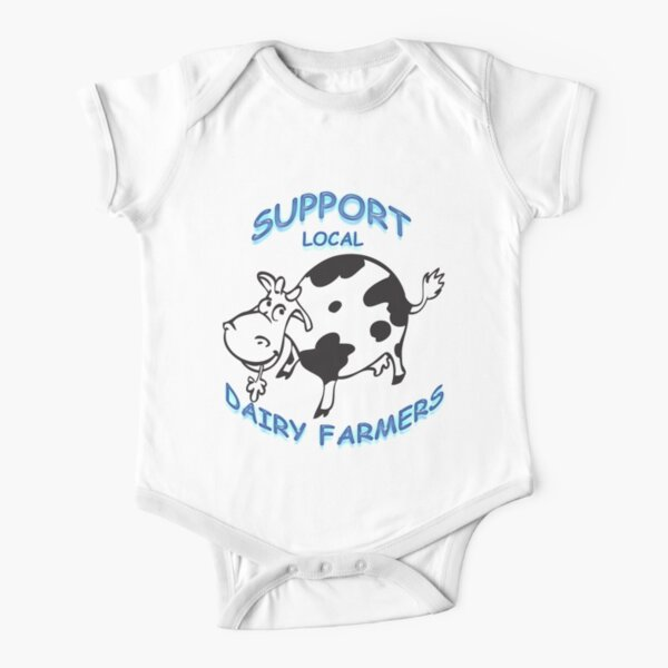 Support Local Dairy Farmers Short Sleeve Baby One-Piece