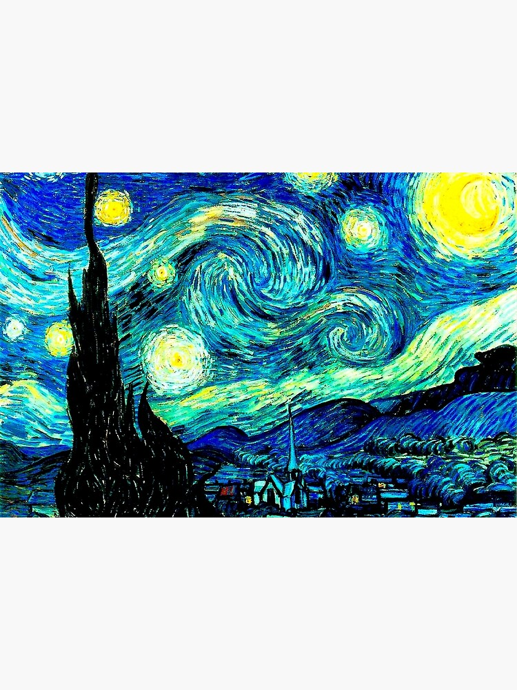 STARRY NIGHT: Vincent Van Gogh Famous Painting Print  by posterbobs