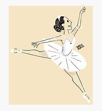 Bailarina de ballet Lámina fotográfica