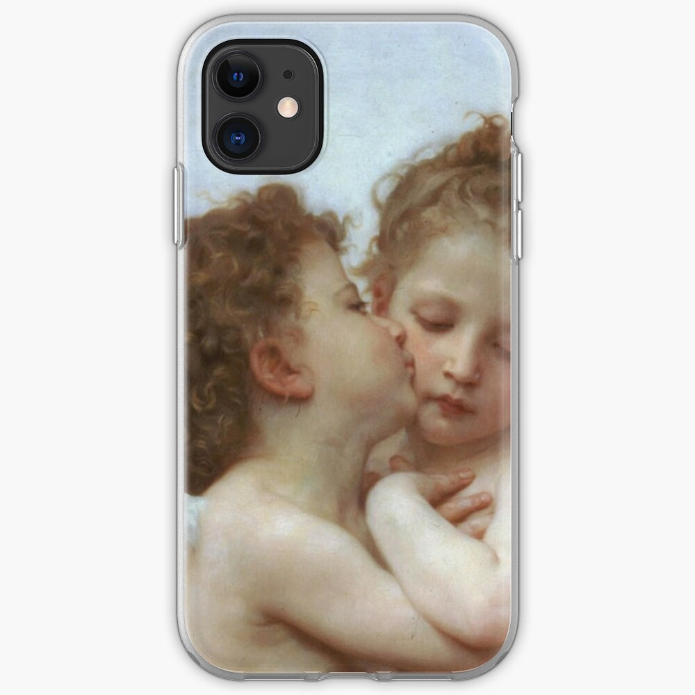Lamour and Psyche Children – (William Adolphe Bouguereau) iPhone Case & Cover