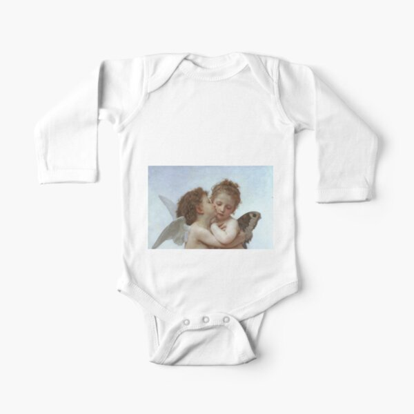 Lamour and Psyche Children – (William Adolphe Bouguereau) Long Sleeve Baby One-Piece