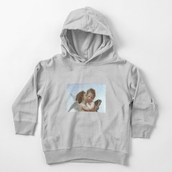Lamour and Psyche Children – (William Adolphe Bouguereau) Toddler Pullover Hoodie