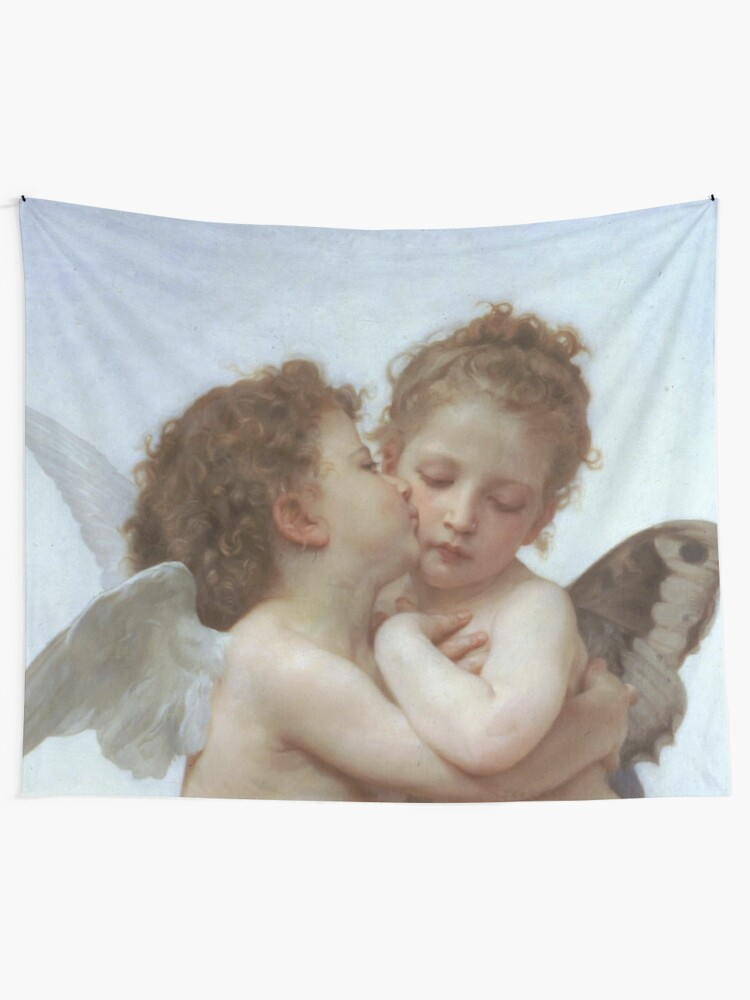 Alternate view of Lamour and Psyche Children – (William Adolphe Bouguereau) Tapestry