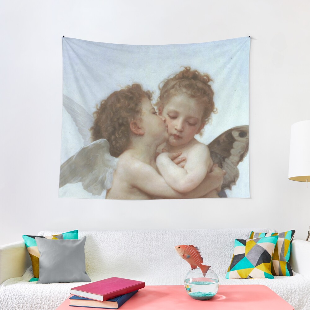 Lamour and Psyche Children – (William Adolphe Bouguereau) Tapestry