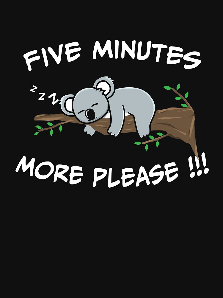 Oso Koala lento colgando durmiendo en un árbol de Betsytiptoe