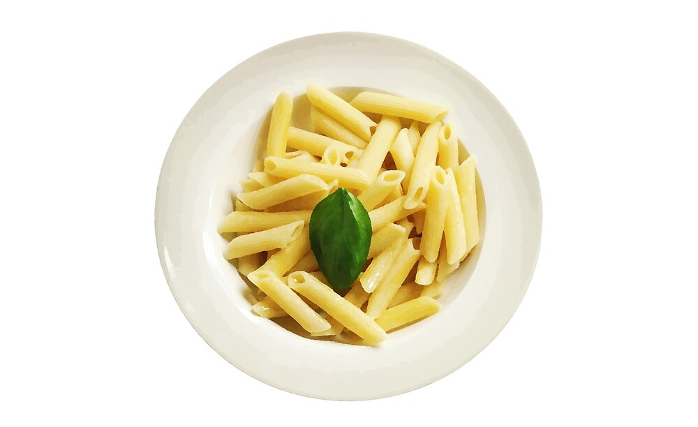 Pasta with a Green Leaf by SuperPayce