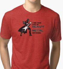 Darth Vader Heavy Metal Tri-blend T-Shirt
