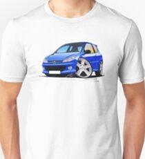 Peugeot 206 GTi Blue Unisex T-Shirt
