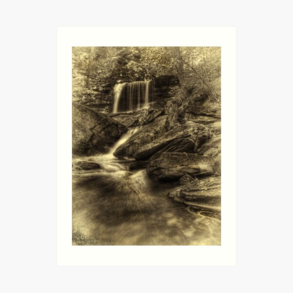 B. Reynolds Falls (faux vintage) Art Print
