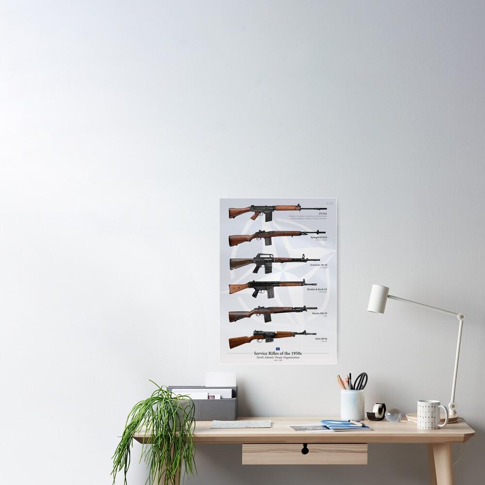 Battle Rifles of NATO Poster