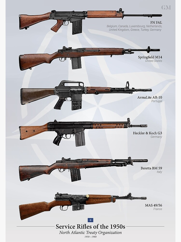 Battle Rifles of NATO by nothinguntried