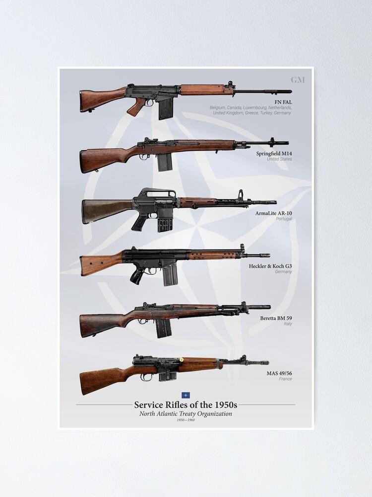 Alternate view of Battle Rifles of NATO Poster