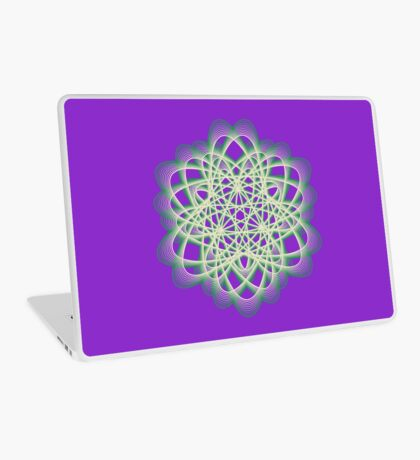 Abstract Sea Green Spiral Lines Laptop Skin