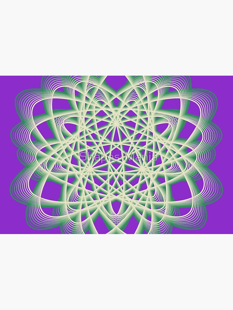 Abstract Sea Green Spiral Lines by Shapes-Mania