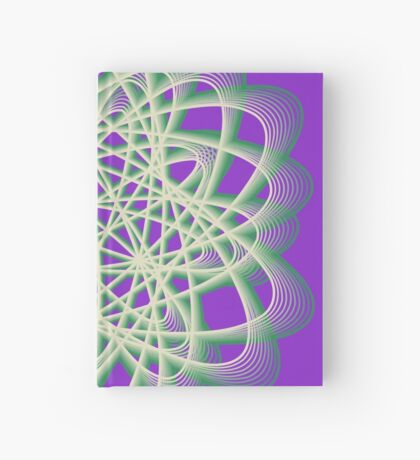 Abstract Sea Green Spiral Lines Hardcover Journal