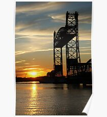 Jordan Bridge Sunset Poster