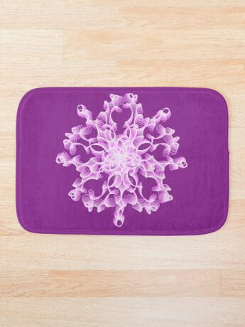 Abstract flower in lilac Bath Mat