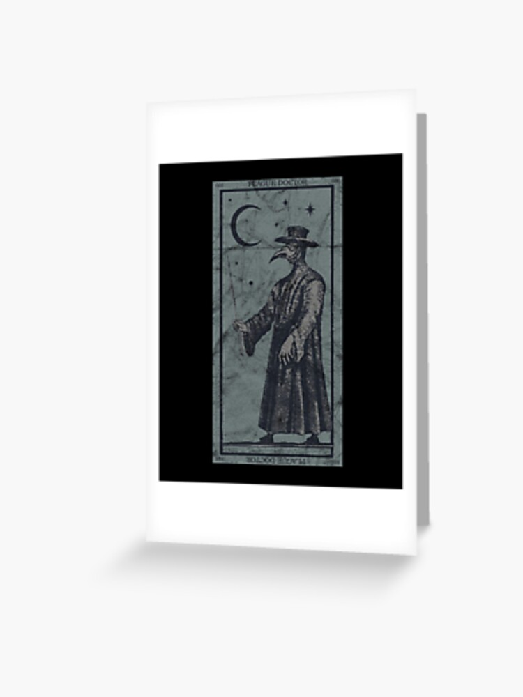 Occult Plague Doctor Tarot Card Black Death Baphomet Devil Design Greeting Card By A Fashion Redbubble