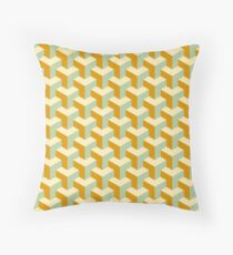 Op Art Cubism | Cubist Abstraction | Mid-1960s Abstract Art Floor Pillow