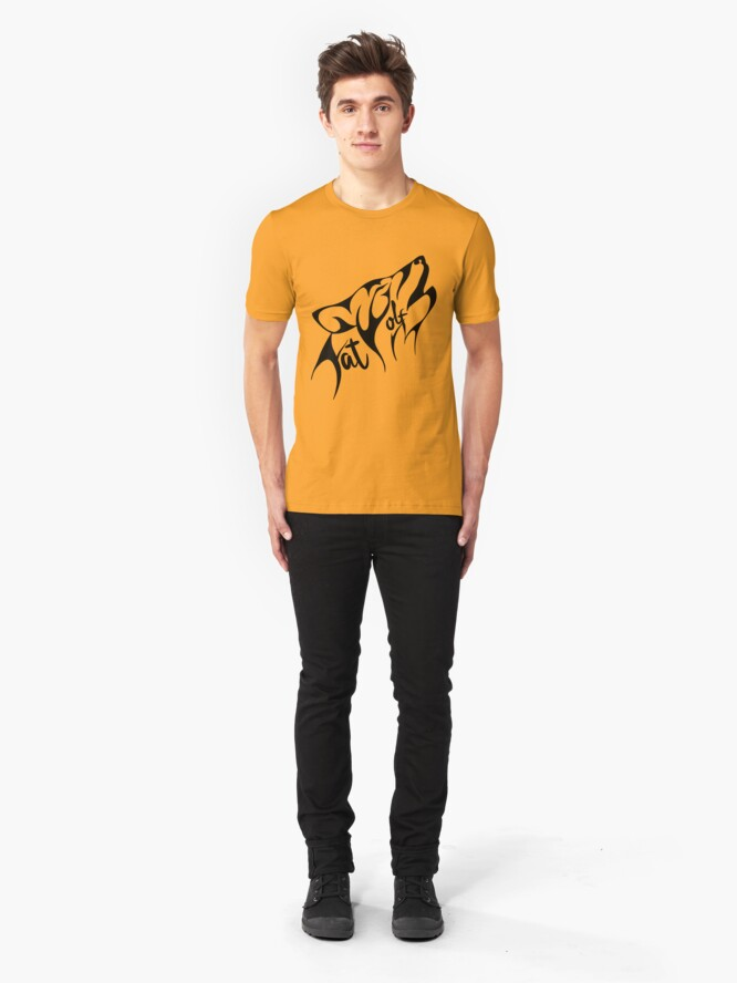 Alternate view of Fat Wolf - Stylised Slim Fit T-Shirt