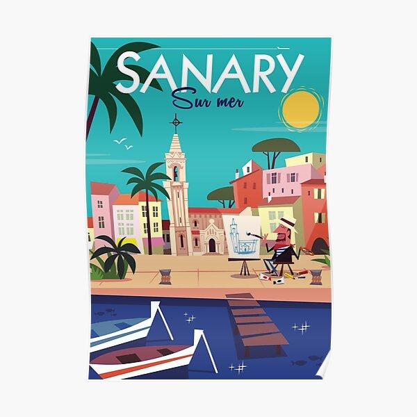 Affiche Sanary Poster
