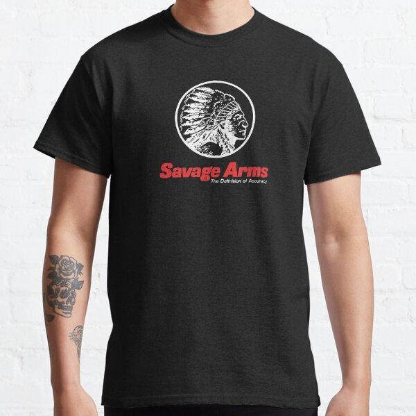Savage Arms Firearms Gun Logo Men/'s Long Sleeve Black T-Shirt Size S to 3XL