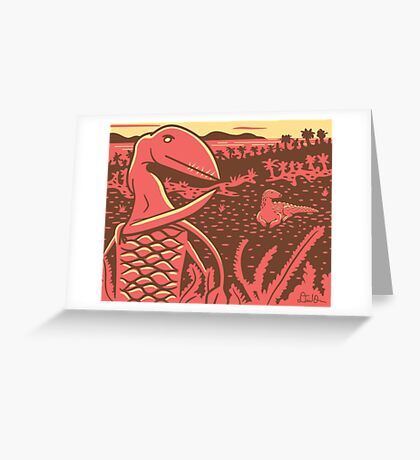 Dimorphodon and Scelidosaurus Greeting Card