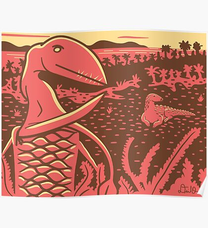 Dimorphodon and Scelidosaurus Poster