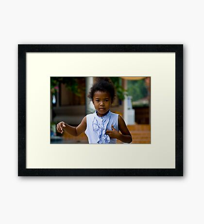 The Joy Of Being A Child Framed Print