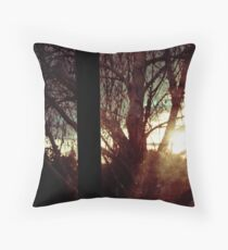Obfuscation of an evening glow. Throw Pillow