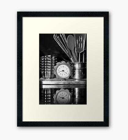 Time for cooking! Framed Print