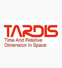 NASA Worm Logo TARDIS Photographic Print