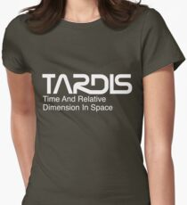 NASA Worm Logo TARDIS (White) T-Shirt