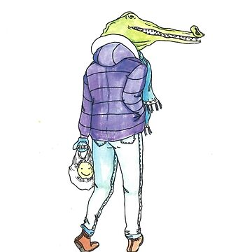 Winter Crocodile  by linneaflower