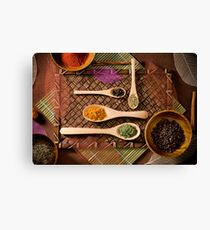 """Colorful Array of Spices"" Canvas Print"