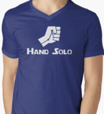 Hand Solo Type Parody Mens V-Neck T-Shirt