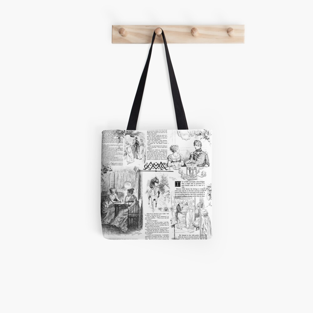 Pride and Prejudice - Pages Tote Bag