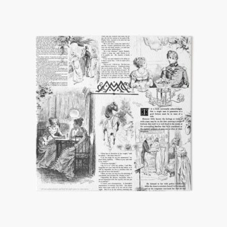 Pride and Prejudice - Pages Art Board Print