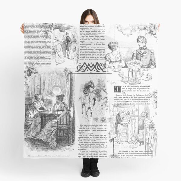 Pride and Prejudice - Pages Scarf
