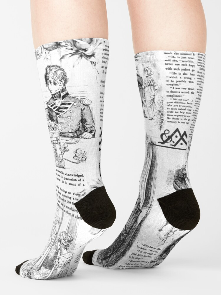 Alternate view of Pride and Prejudice - Pages Socks